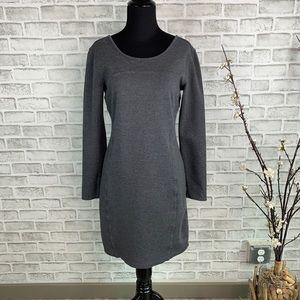 Athleta ILLusion Long Sleeve Dress Charcoal Size S